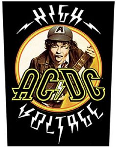 AC/DC High Voltage jumbo sized sew-on cloth backpatch   -mm-